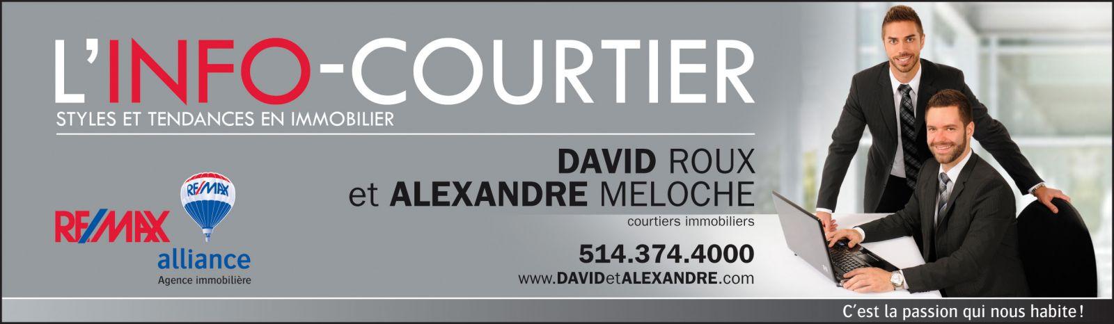 Bandeau David Roux et Alexandre Meloche, courtiers imobiliers